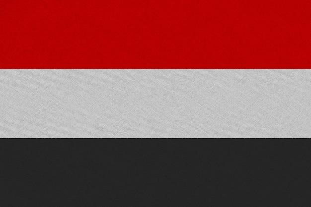 Drapeau En Tissu Yémen Photo Premium