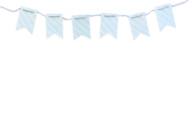 Drapeaux bleus Photo Premium