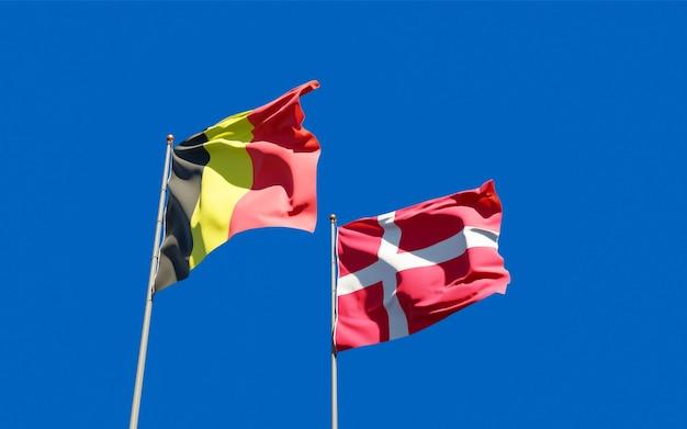 Drapeaux Du Danemark Et De La Belgique. Photo Premium