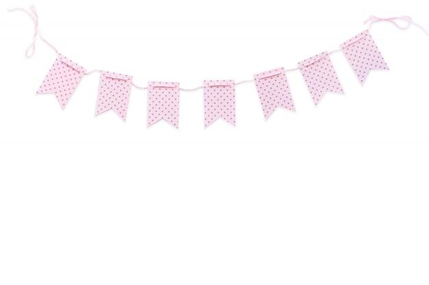 Drapeaux vacances rose Photo Premium