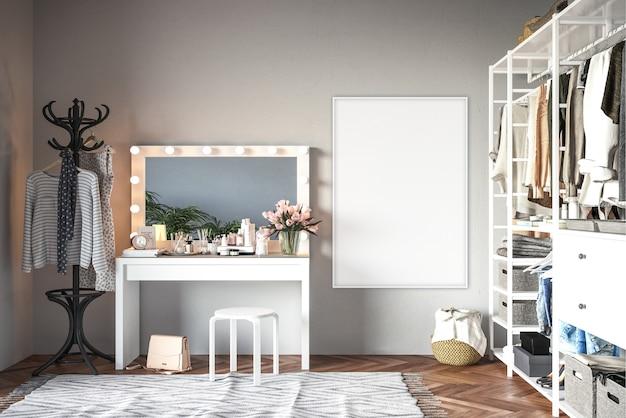 Dressign room avec cadre vertical Photo Premium