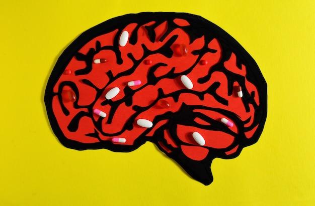 Drogues dans le cerveau Photo Premium