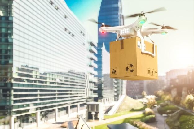 Drone D'expédition En Ville Photo Premium