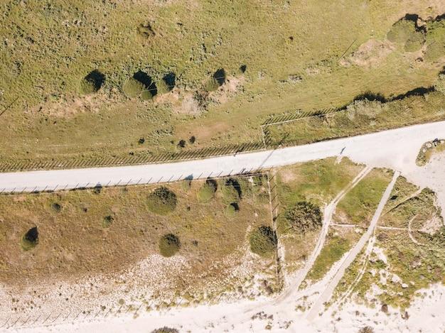 Drone, Vue, De, Route Photo gratuit