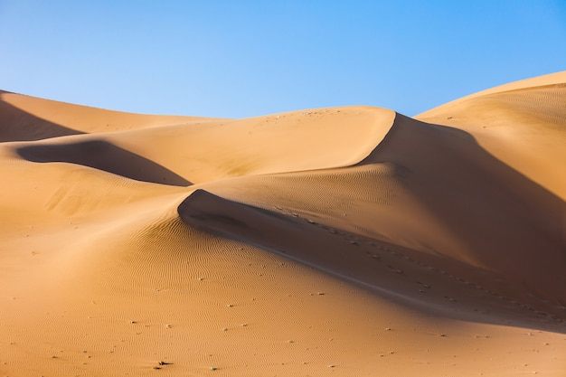 Dunes du désert de huacachina au pérou Photo Premium