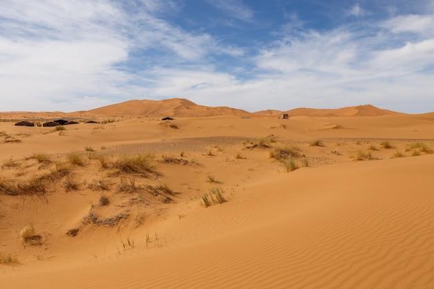 Dunes d'erg chebbi, maroc. Photo Premium