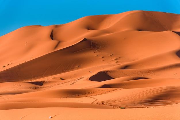 Dunes De Sable Dans Le Désert Du Sahara Photo Premium