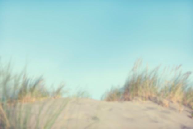 Dunes de sable défocalisé avec de l'herbe Photo gratuit