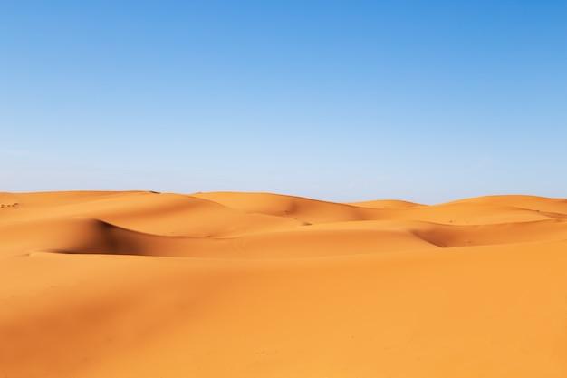 Dunes De Sable Du Désert Du Sahara. Photo Premium
