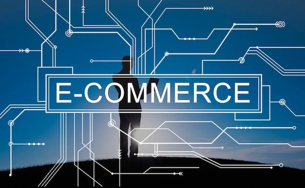 E-commerce shopping en ligne concept de vente Photo gratuit