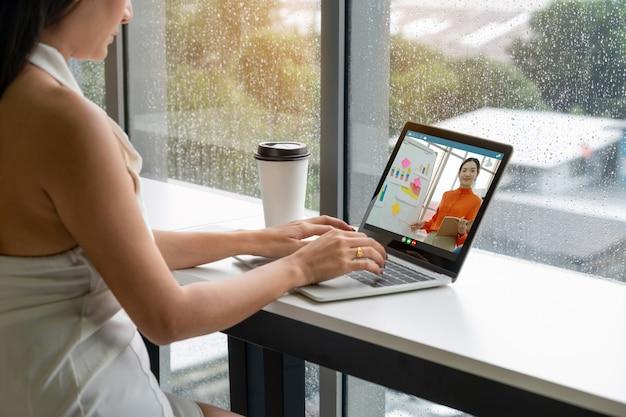 E-learning Et Présentation Commerciale En Ligne Photo Premium