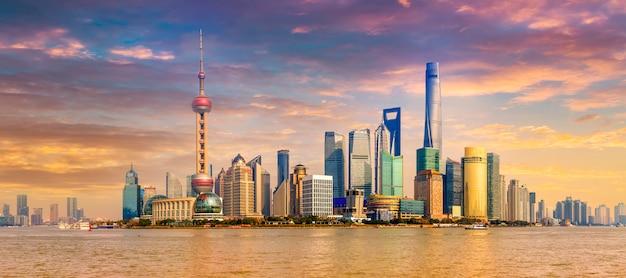 Eau célèbre architecture finance tour de shanghai Photo gratuit