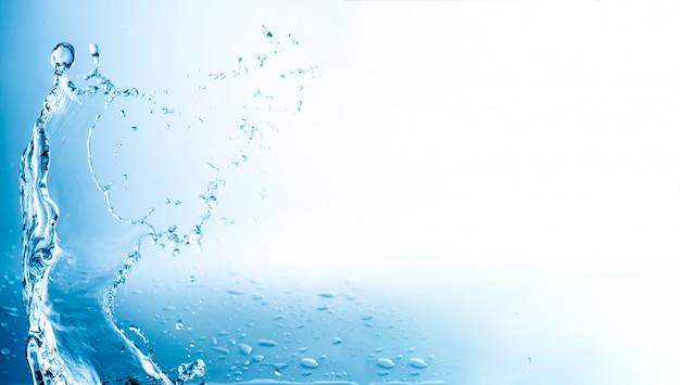 L'eau éclabousse Avec Copie Espace Photo Premium