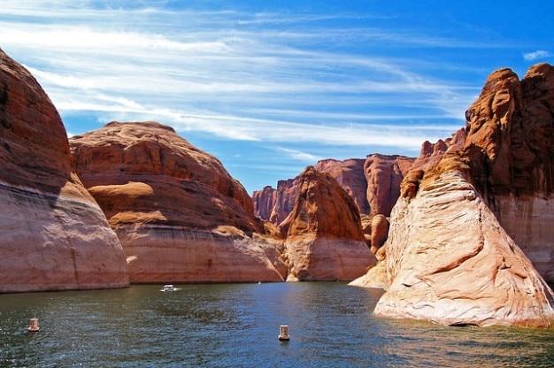 Eau Paysage Arizona Lake Powell Page Réservoir Photo gratuit