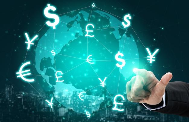 Échange De Devises Global Money Money Finance. Photo Premium