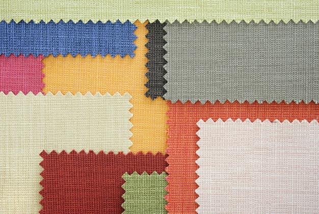 Échantillons De Texture De Tissu Multicolore Photo gratuit