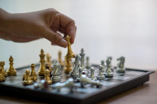 Échecs, Compétition D'échecs, Victoire Aux échecs, Match De Victoire Photo Premium