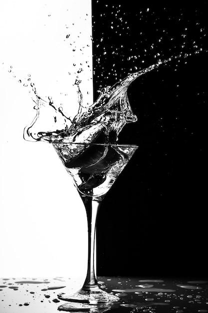 Éclaboussure de martini Photo Premium