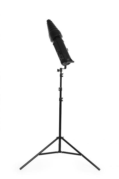 Éclairage de studio isolé sur blanc Photo Premium