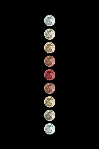 L'éclipse Lunaire Penumbral Sur Fond Sombre Photo Premium