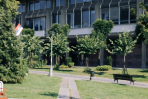 École scolaire en été Photo gratuit