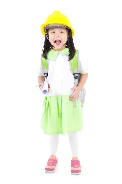 Écolière asiatique Photo Premium