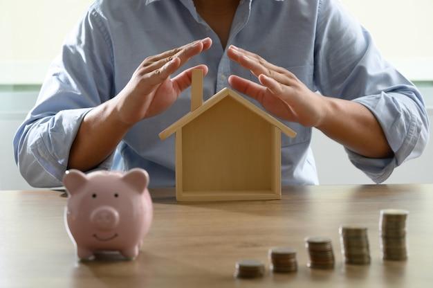 Économisez de l'argent pour votre livre de comptes d'épargne ou vos états financiers Photo Premium