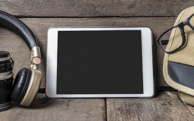 Écran De Tablette Vierge Pour Modèle De Cadre Photo Photo Premium