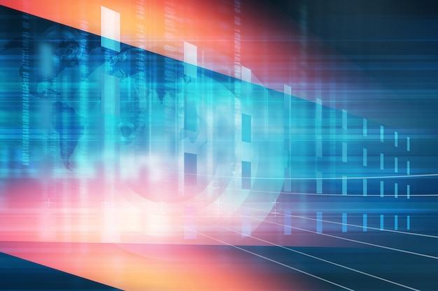 Écran de technologie numérique avec codes binaires Photo Premium