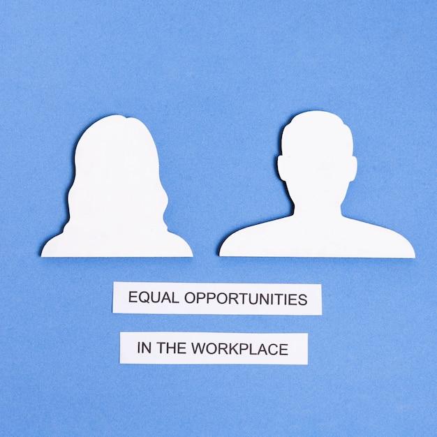 Égalité Des Chances Sur Le Lieu De Travail Entre L'homme Et La Femme Photo gratuit