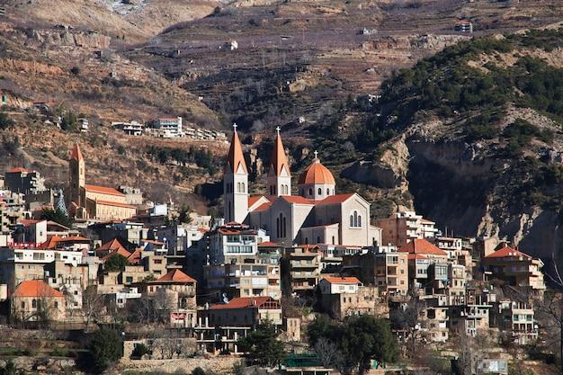 L'église De La Vallée De Kadisha, Au Liban Photo Premium