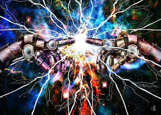 Électricité clignote touche espace doigt Photo gratuit
