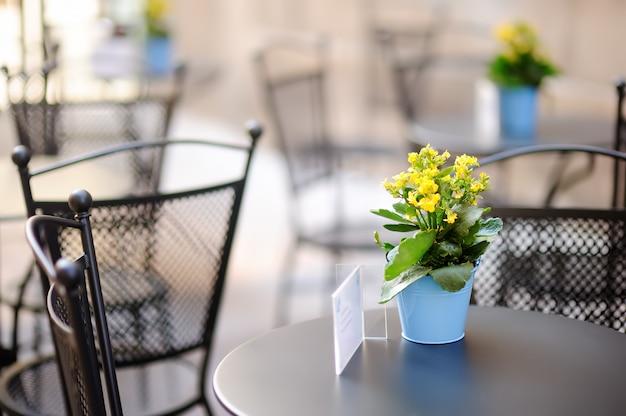 Élégant café en plein air Photo Premium