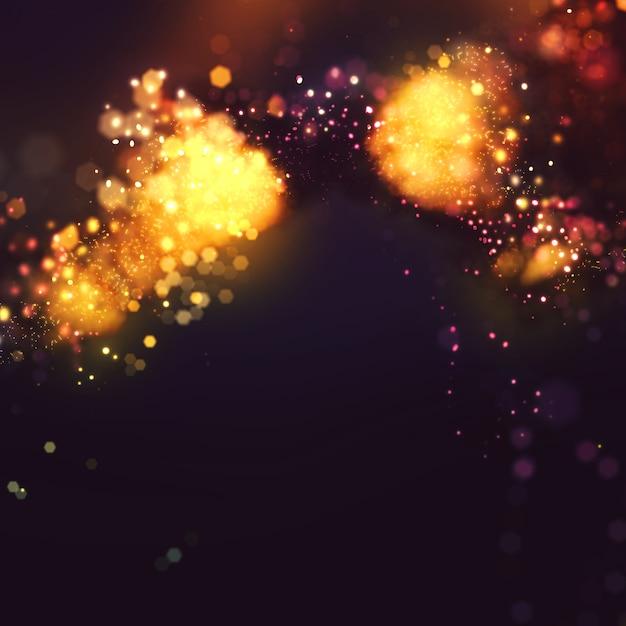 Élégant fond glitter sparkle avec des lumières incandescentes Photo gratuit