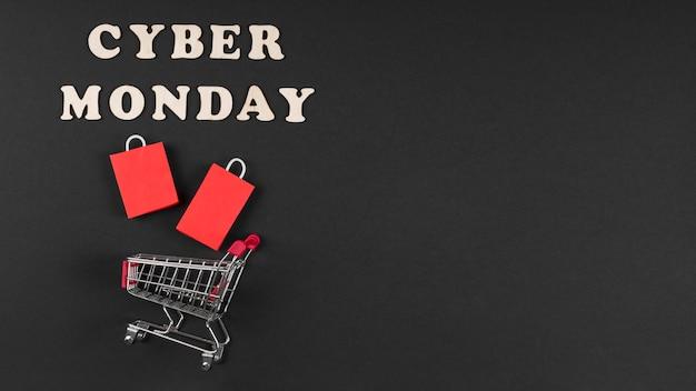 Éléments De L'événement Cyber Monday En Miniature Avec Espace De Copie Photo gratuit