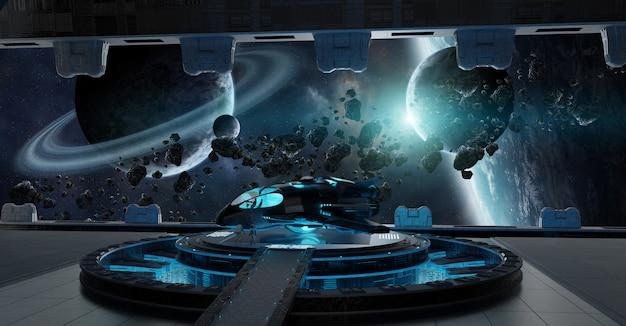 Éléments intérieurs de vaisseau spatial de piste d'atterrissage de cette image fournie par la nasa Photo Premium