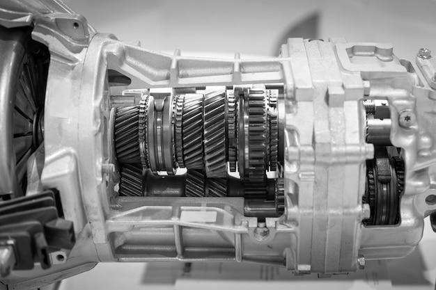 Engrenage, pièce de moteur de voiture. Photo Premium