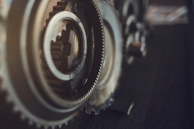 Engrenages Dans Le Moteur Photo Premium