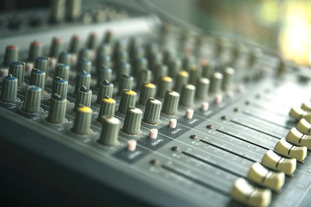 Enregistrement sonore ou panneau de configuration du mixeur de musique Photo Premium