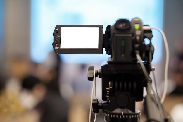Enregistrement vidéo en séminaire. Photo Premium