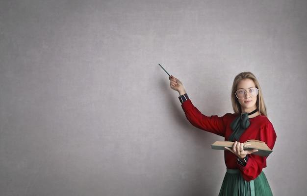 Enseignant Strict Et Sérieux Photo Premium