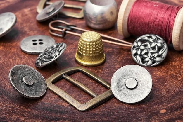 Ensemble de boutons de fer rétro Photo Premium