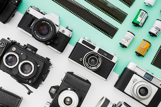 Ensemble de caméras près du film Photo gratuit