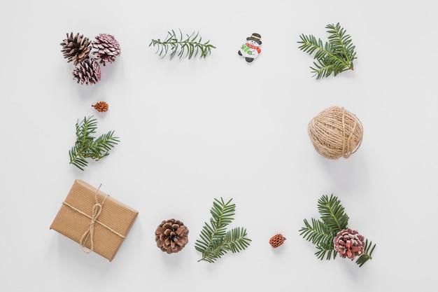 Ensemble de décorations de noël Photo gratuit