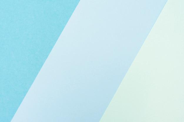 Ensemble de feuilles de papier pastel bleu Photo gratuit
