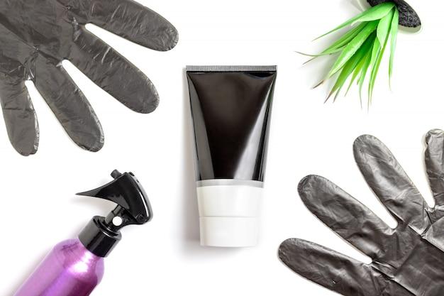 Ensemble d'outils de coiffeur professionnel pour la coloration des cheveux Photo Premium