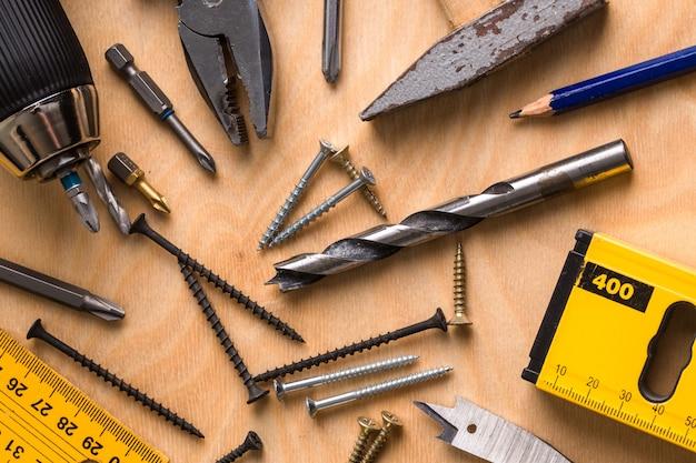 Ensemble d'outils de travail Photo Premium