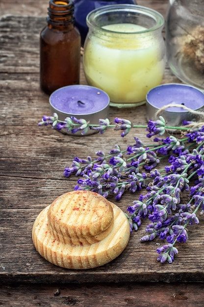 Ensemble de parfums pour traitements de spa Photo Premium