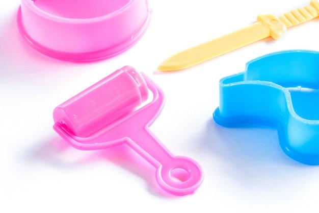 Ensemble de pâte à modeler colorée pour enfant Photo Premium