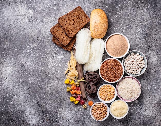 Ensemble de produits sans gluten Photo Premium